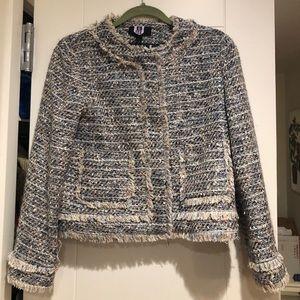 J. Crew metallic tweed jacket size 6